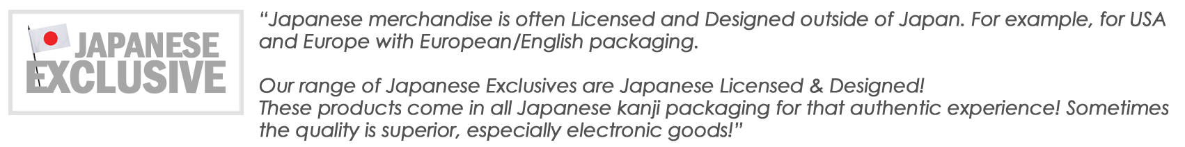 Japanese Exclusive